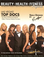 beauty health fitness las vegas' top docs magazine cover
