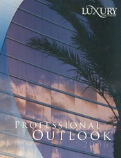 luxury professional outlook 2006 magazine cover